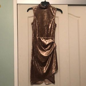 Women's Velvet Bodycon Dress